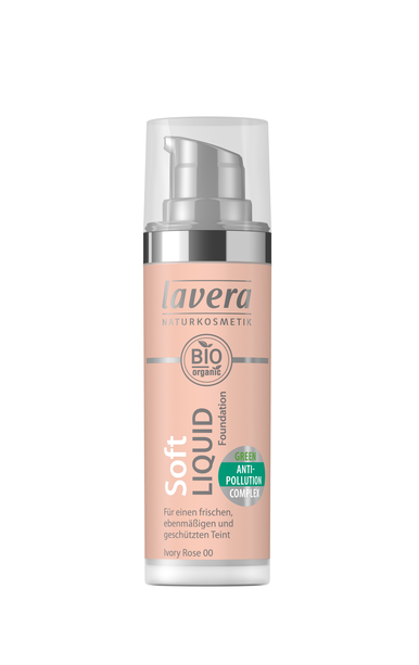 Lavera Soft Liquid Foundation meikkivoide - 00 Ivory Rose