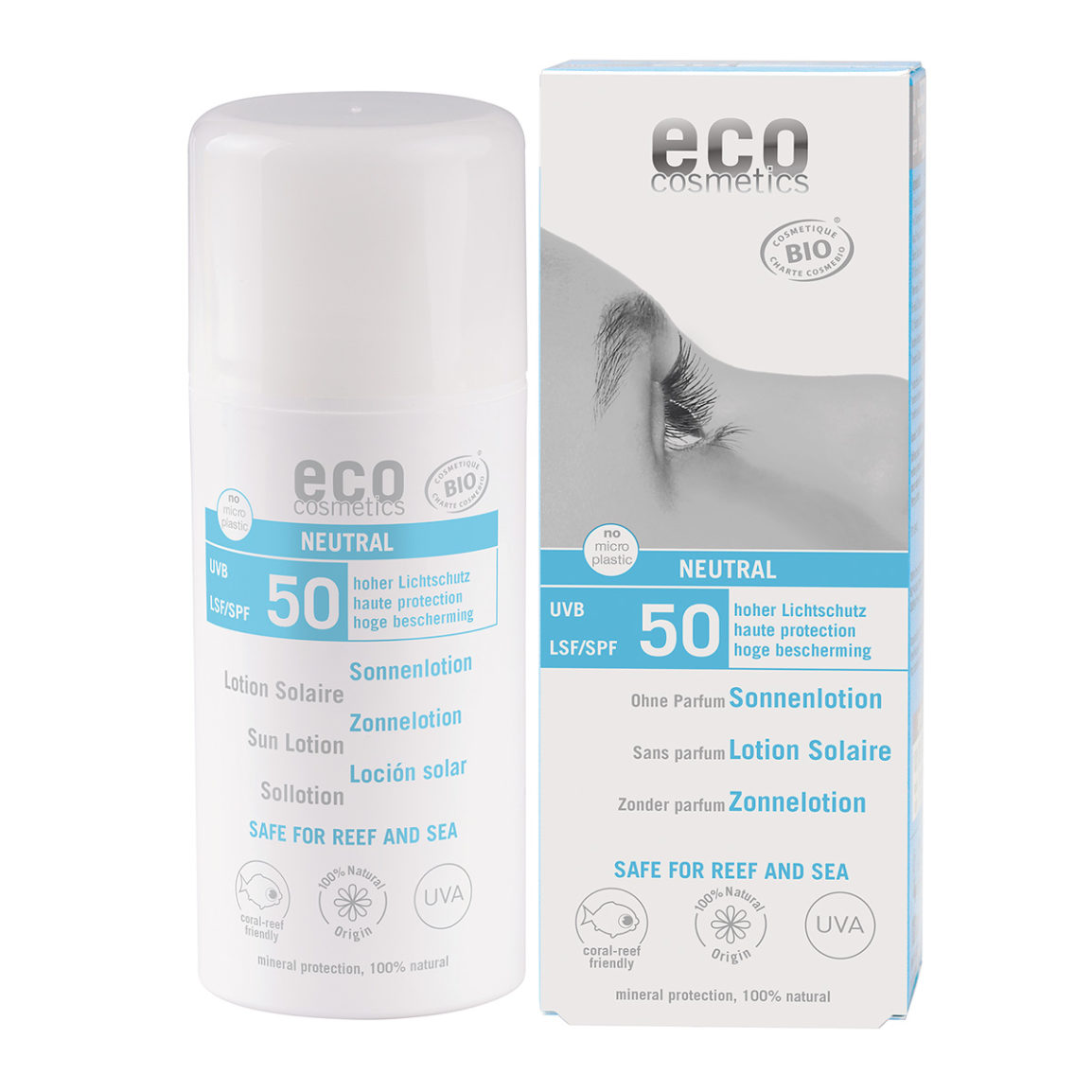 Eco Cosmetics Neutral hajusteeton aurinkoemulsio (SK50)